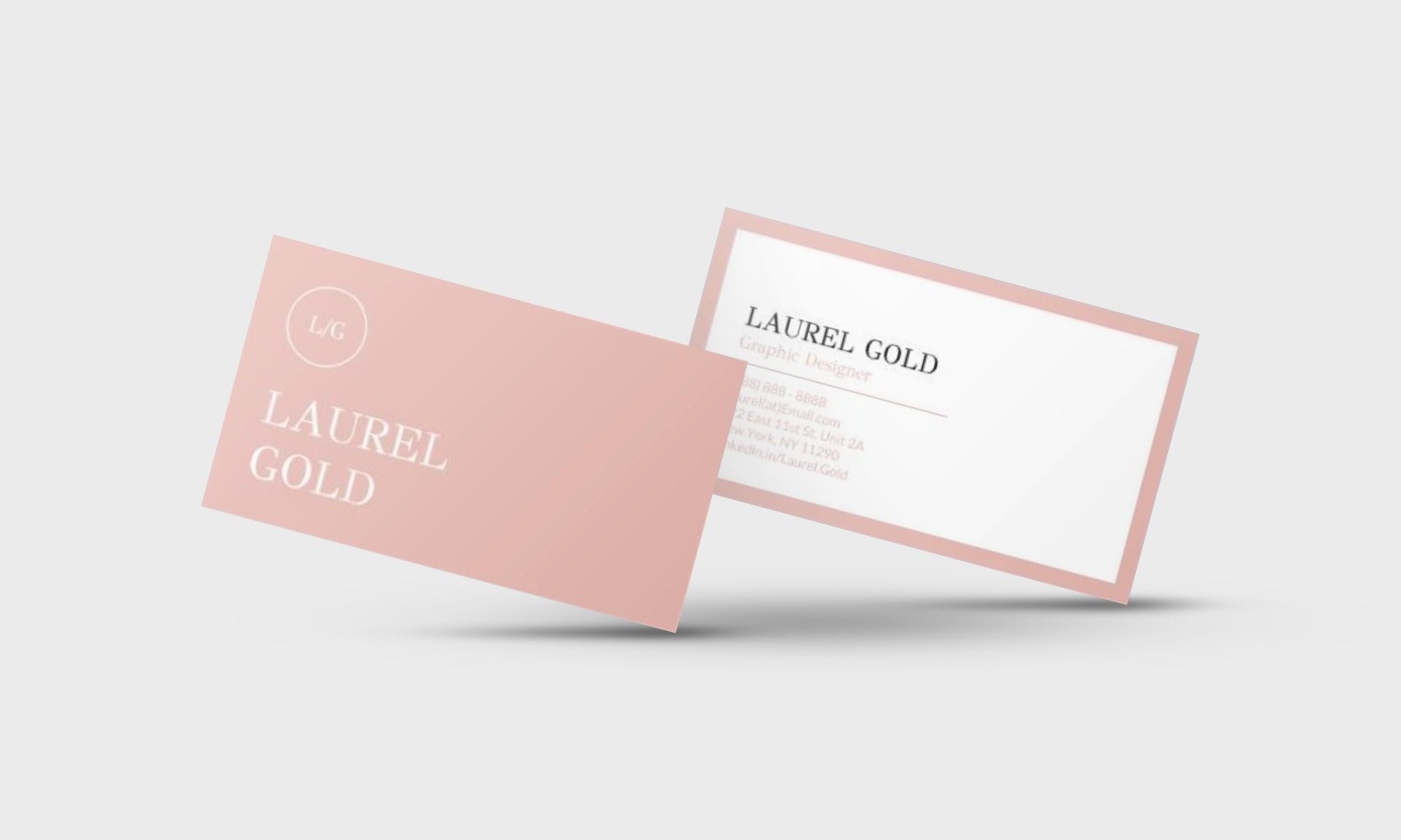 Laurel Gold Google Docs Business Card Template - Stand Out Shop Throughout Google Docs Business Card Template