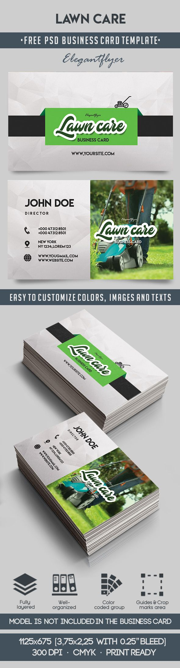 Lawn Care – Free Business Card Templates Psd Regarding Lawn Care Business Cards Templates Free