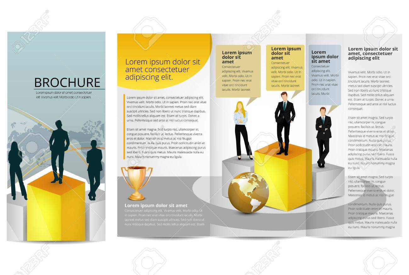 Leadership Training Progress Brochure Template With Training Brochure Template