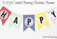 Let's Make It Lovely: Diy Colorful Bunting Birthday Banner with regard to Diy Party Banner Template