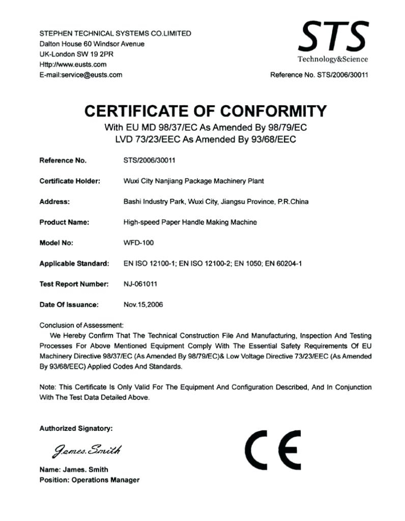 Letter Of Conformity Template Within Certificate Of Conformity Template