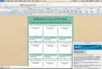 Line Sheet – Id17 inside Catalogue Word Template