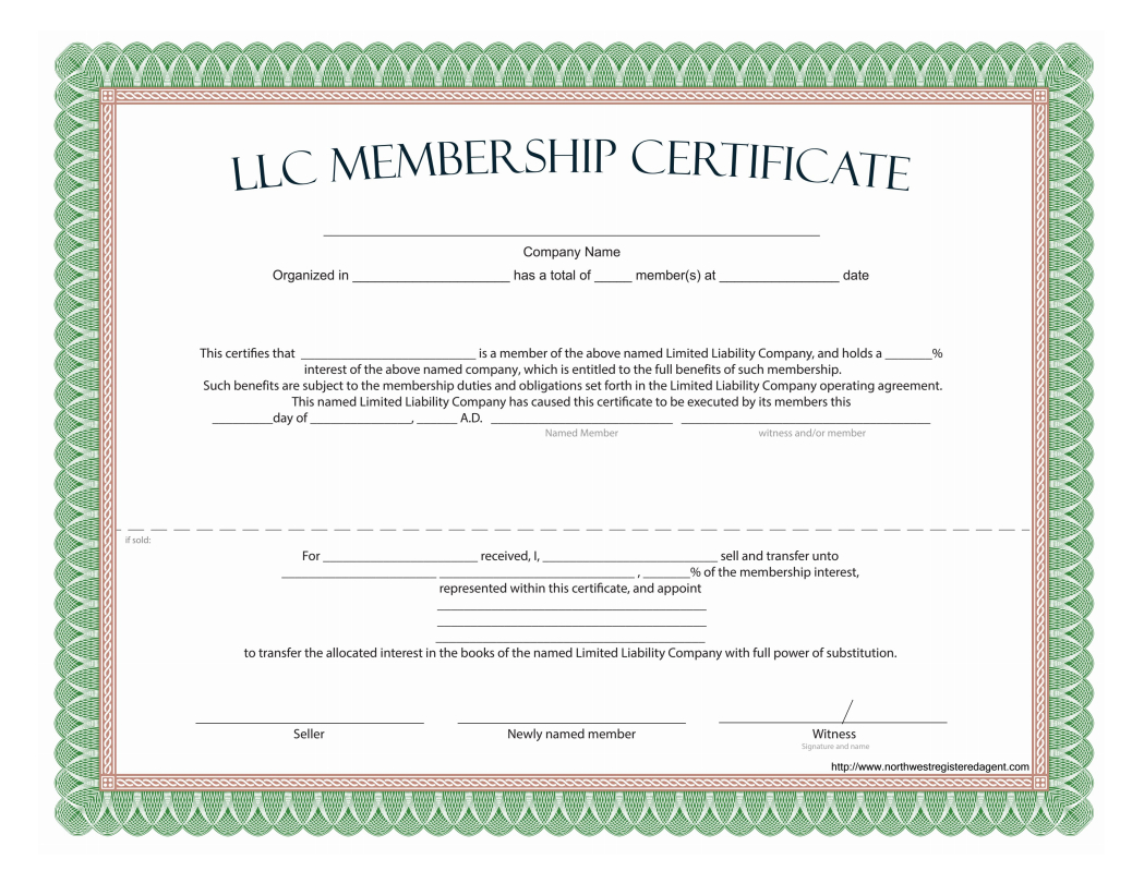 Llc Membership Certificate - Free Template With New Member Certificate Template