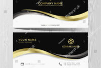 Luxury And Elegant Black Gold Business Cards Template On regarding Advertising Cards Templates