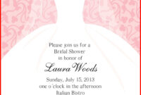 Luxury Blank Bridal Shower Invitations Image Of Invitation For Blank Bridal Shower Invitations Templates