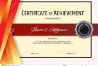 Luxury Certificate Template With Elegant Border Frame with Elegant Certificate Templates Free