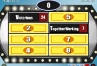 Make Your Own Family Feud Game With These Free Templates with Family Feud Game Template Powerpoint Free