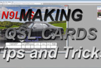 Making Qsl Cards-Tips And Tricks inside Qsl Card Template