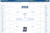 March Madness 2019 Bracket Template (Free Printable Pdf) With Regard To Blank March Madness Bracket Template