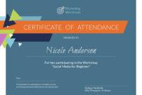 Marketing Workshop – Certificate Template – Visme with Workshop Certificate Template