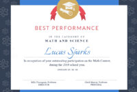 Math Contest – Certificate Template – Visme for Best Performance Certificate Template