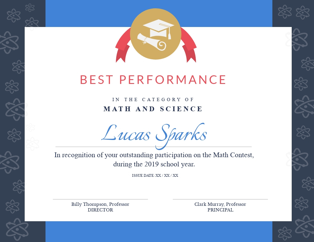 Math Contest - Certificate Template - Visme For Math Certificate Template