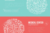 Medical Banner Design Template With Different Research Symbols.. with regard to Medical Banner Template