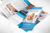Medical Care And Hospital Trifold Brochure Template Free Psd Intended For Cleaning Brochure Templates Free