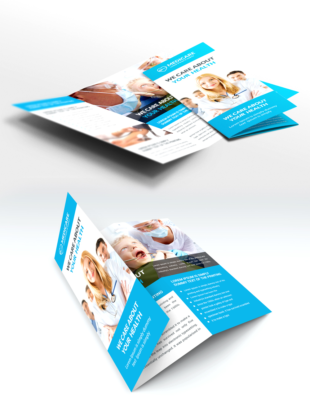 Medical Care And Hospital Trifold Brochure Template Free Psd Pertaining To Medical Office Brochure Templates