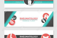 Medical Clinic And Health Center Banner Template Set. Round Badges.. with regard to Medical Banner Template