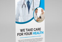 Medical Health Roll-Up Banner Template. This Layout Is with regard to Medical Banner Template