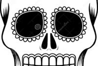 Mexican Sugar Skull Template Stock Vector – Illustration Of with Blank Sugar Skull Template