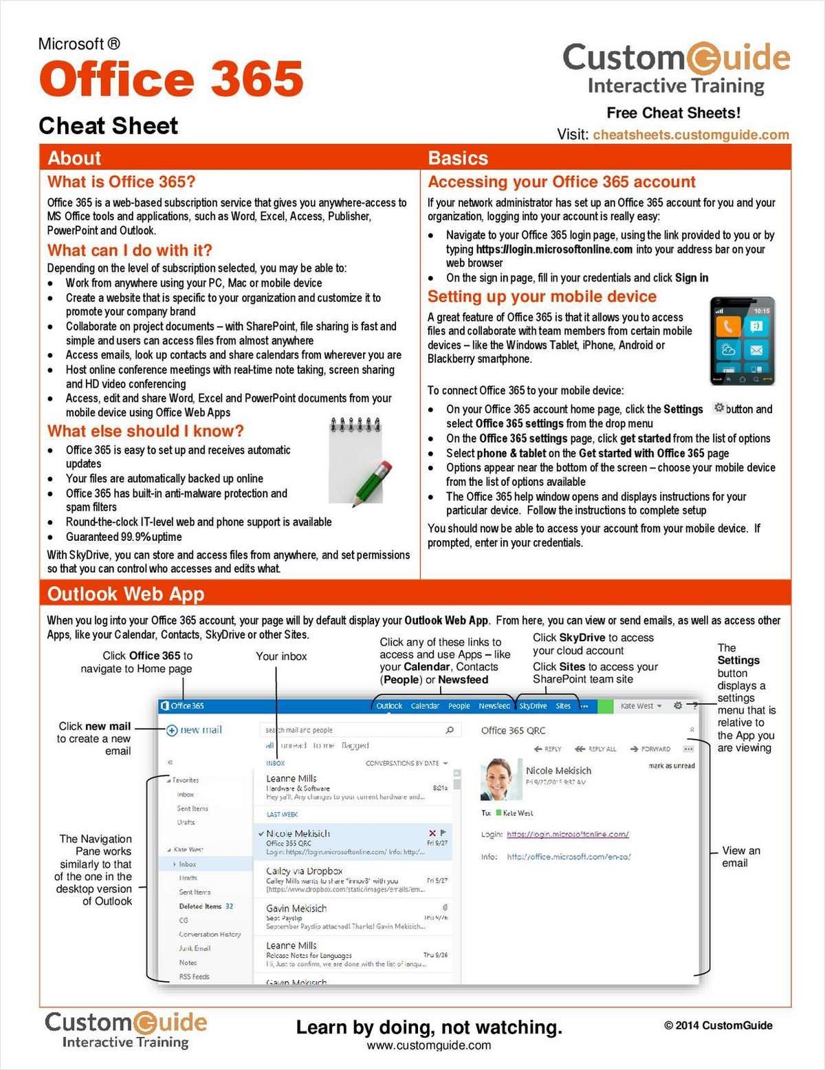 Microsoft Office 365    Free Cheat Sheet | Office 365 Within Cheat Sheet Template Word