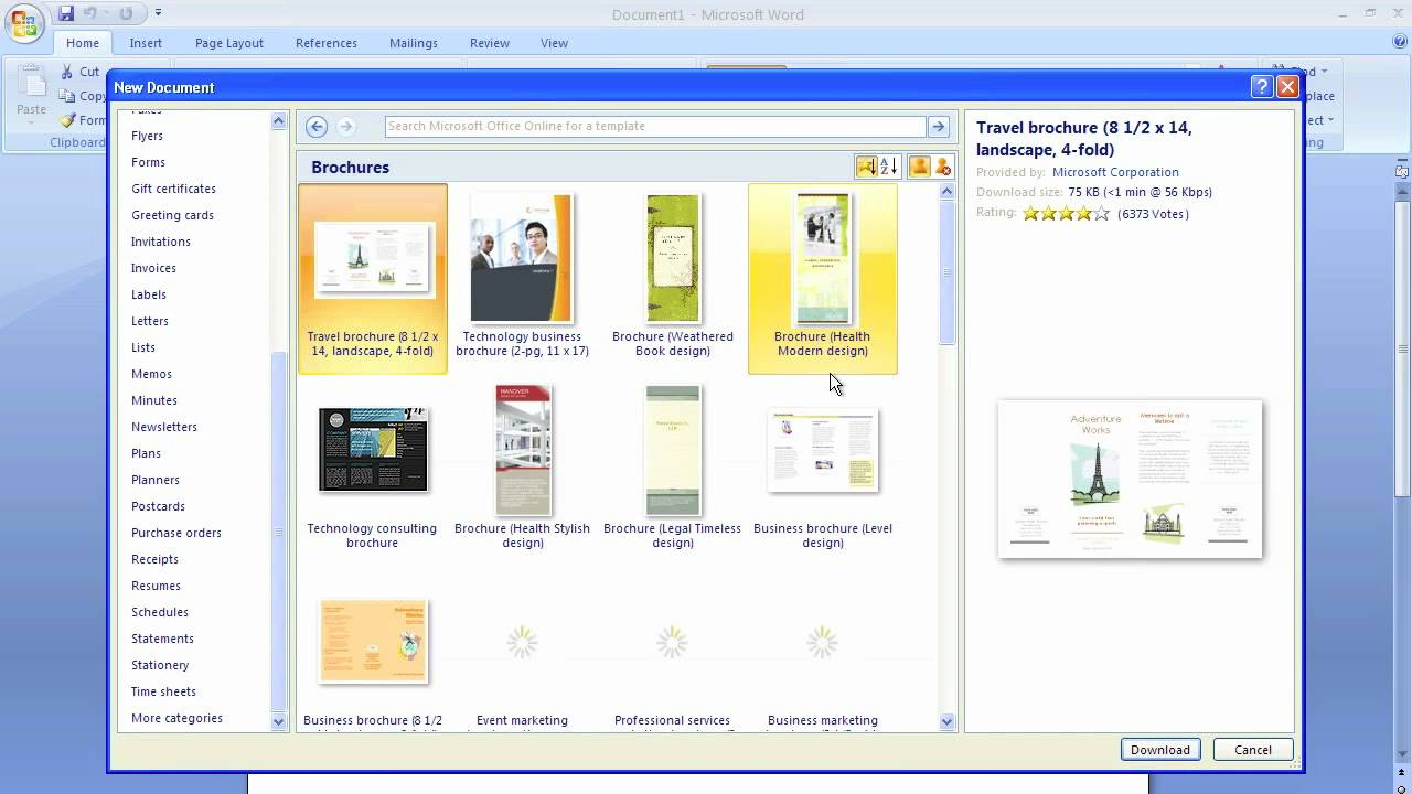 Microsoft Word Brochure Template Inside Ms Word Brochure Template