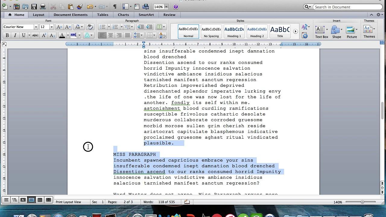 Microsoft Word Screenplay Formatting Tips In Microsoft Word Screenplay Template