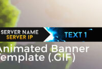 "Minecraft Animated Server Banner Template ""super Dazzle"" pertaining to Animated Banner Template"