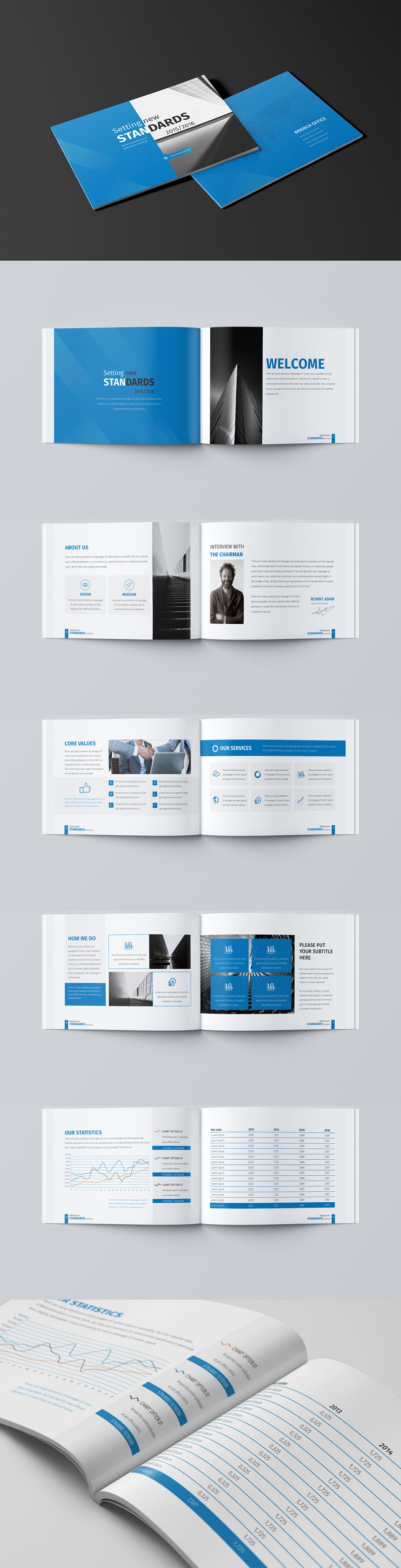 Mini Business Brochure 12 Pages A5 Template Indesign Indd Within 12 Page Brochure Template