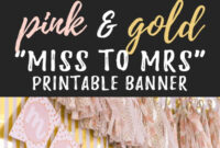 Miss To Mrs Banner – Free Printable | Bridal Shower Banner in Free Bridal Shower Banner Template