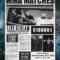 Mma / Boxing Showdown Old Newspaper Template Word Format Within Old Newspaper Template Word Free