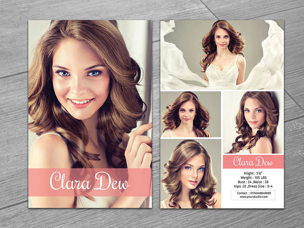 Model Comp Card On Behance Throughout Zed Card Template