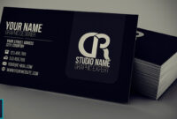 Modern Black Business Card + Psd — Photoshop Tutorial for Visiting Card Templates For Photoshop