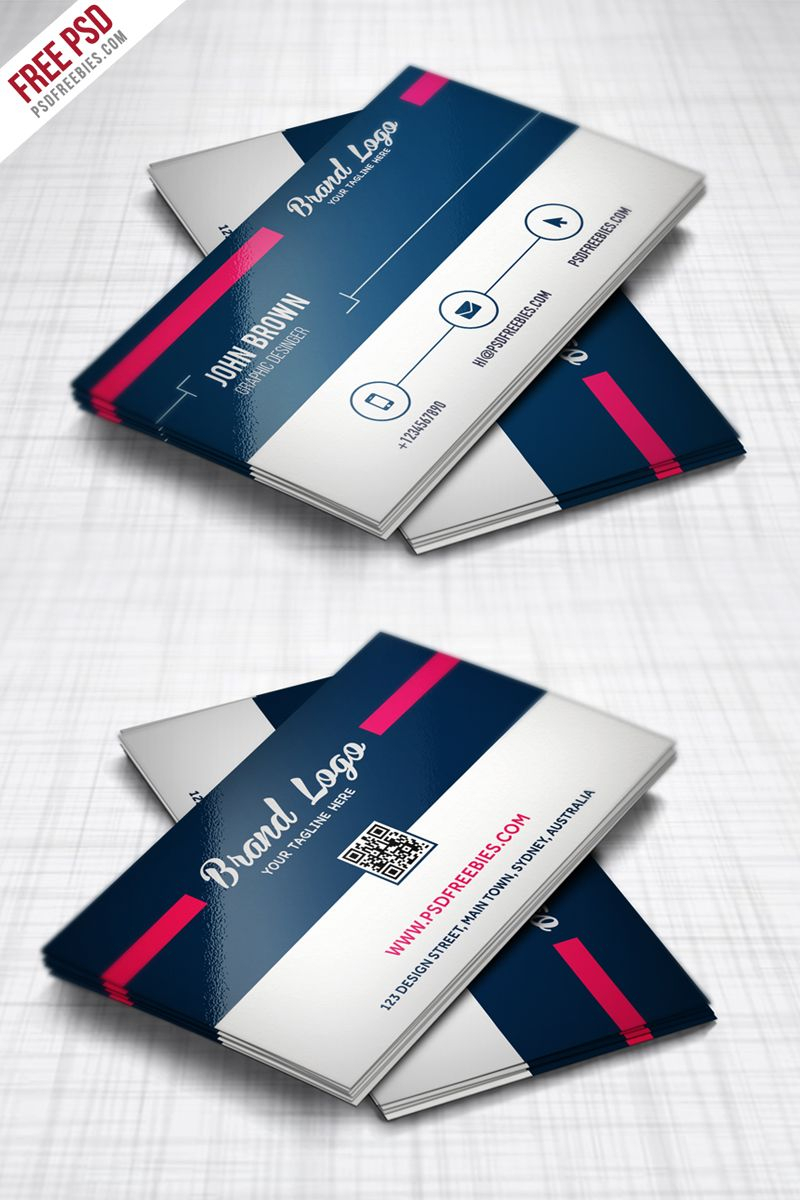 Modern Business Card Design Template Free Psd | Business Within Professional Business Card Templates Free Download