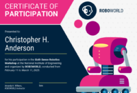 Modern Certificate Of Participation Template Template regarding Certificate Of Participation In Workshop Template