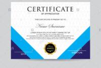 Modern Certificate Template And Background Stock Photo regarding Borderless Certificate Templates