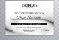 Modern Certificate Template Design Stock Photo: 213152925 pertaining to Borderless Certificate Templates