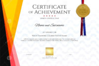 Modern Certificate Template With Elegant Border Frame within Landscape Certificate Templates