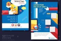 Modern Flat Design Flyer Template For Social Media Concept for Social Media Brochure Template