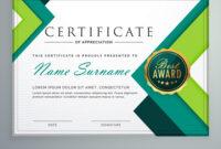 Modern Geometric Shape Certificate Design Template inside Design A Certificate Template