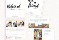 Modern Hand Lettering Referral Card Set – Strawberry Kit throughout Referral Card Template