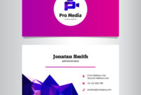 Modern Media Agency Business Card Template regarding Advertising Card Template