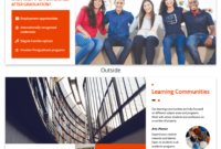 Modern Orange College Tri Fold Brochure Template Template throughout Student Brochure Template