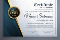 Modern Premium Certificate Award Design Template within Award Certificate Design Template