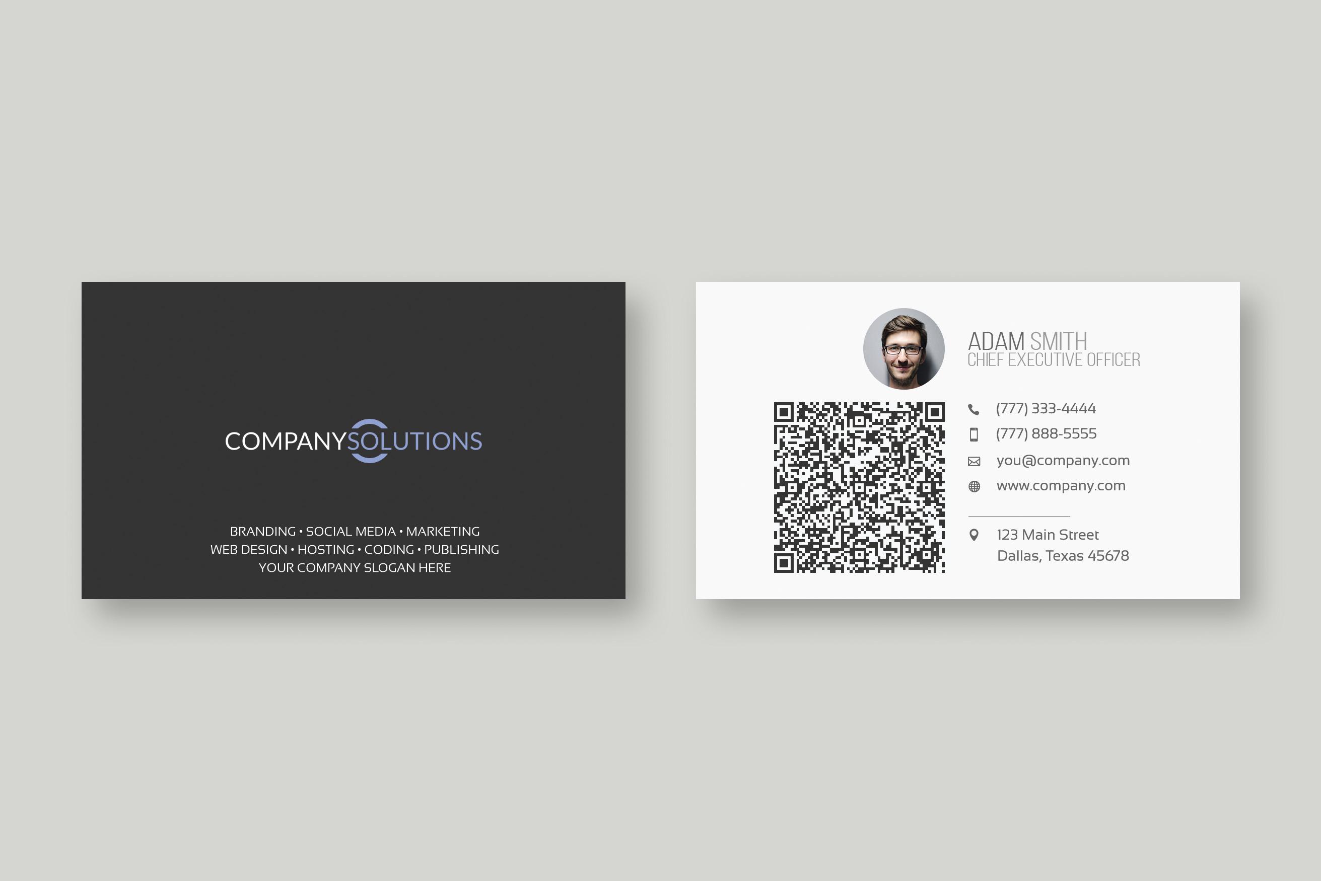 Modern Qr Code Business Card Template Intended For Qr Code Business Card Template