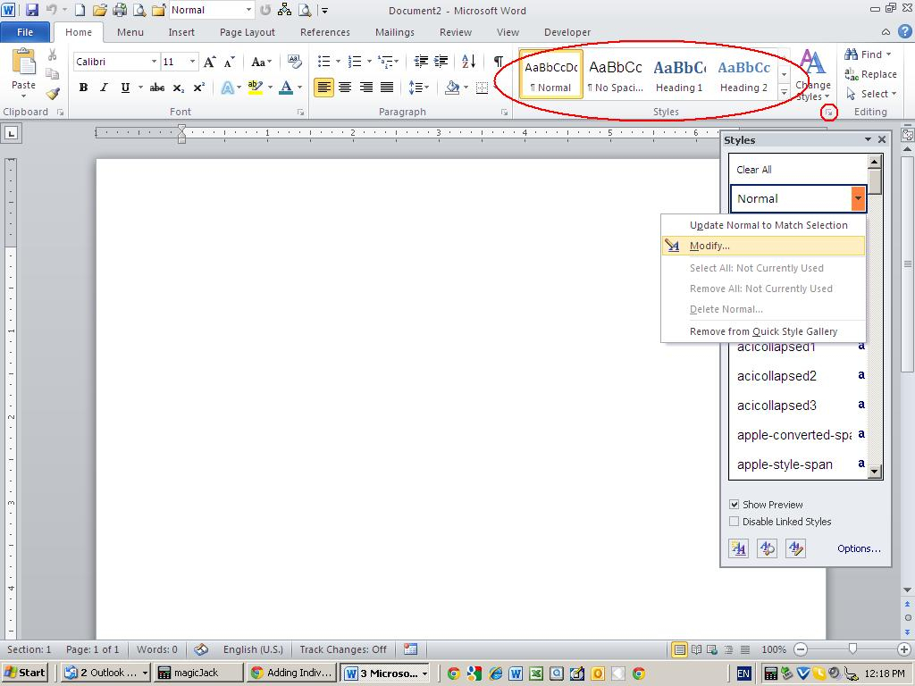 Modify A Style At The Template Level - Techrepublic In Change The Normal Template In Word 2010