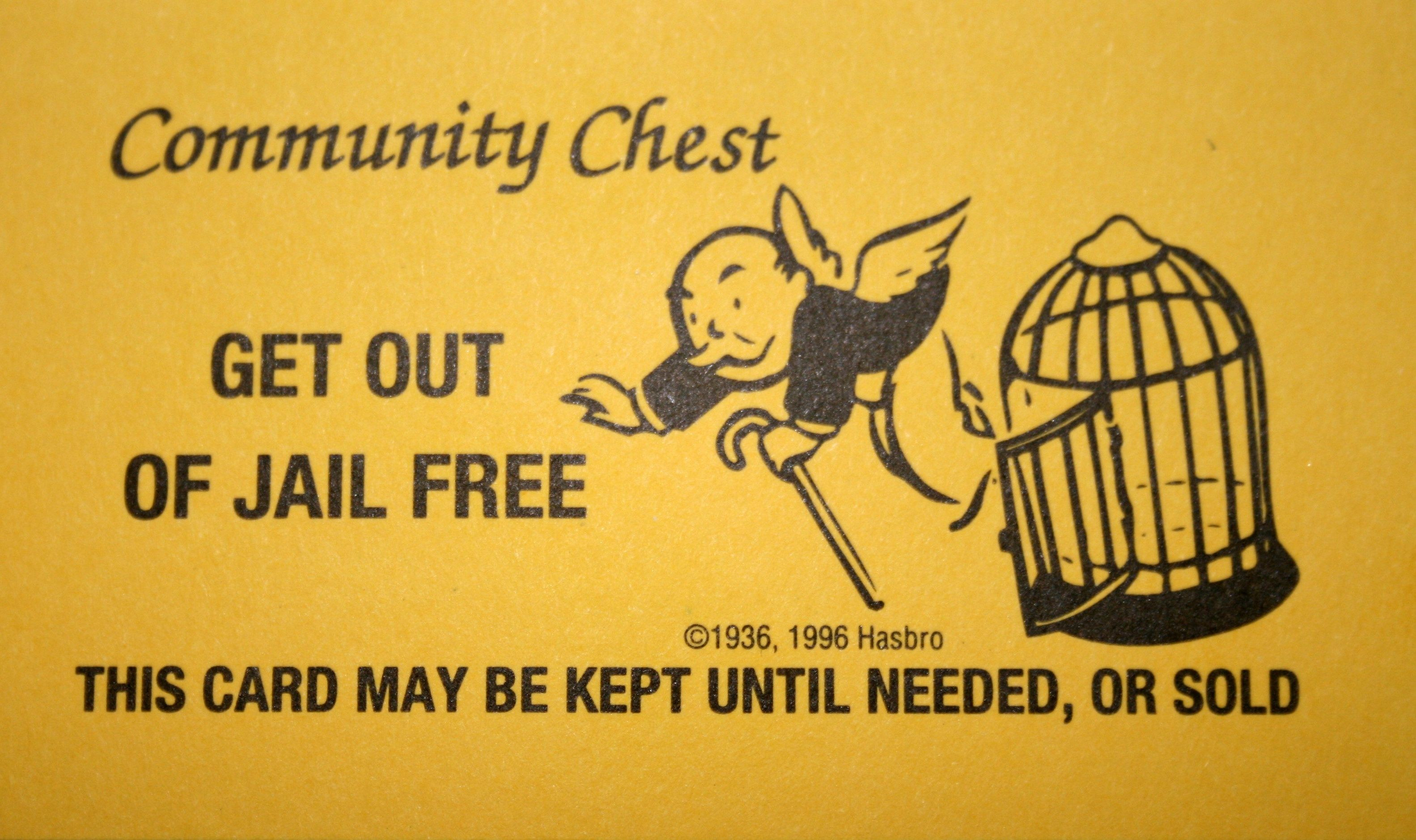 Monopoly Get Out Of Jail Free Card Printable Quality Images For Get Out Of Jail Free Card Template