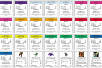 Monopoly+Property+Cards+Template | Monopoly | Monopoly Cards Within Monopoly Property Card Template