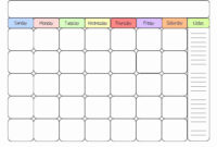 Month At A Glance Blank Calendar With Notes Download For In inside Month At A Glance Blank Calendar Template