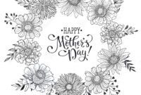 Mother's Day Card Stock Vector. Illustration Of Monochrome for Mothers Day Card Templates
