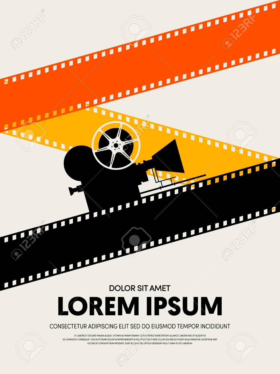 Movie And Film Festival Poster Template Design Modern Retro Vintage.. Within Film Festival Brochure Template