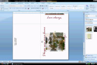 Ms Word Tutorial (Part 2) – Greeting Card Template for Microsoft Word Birthday Card Template